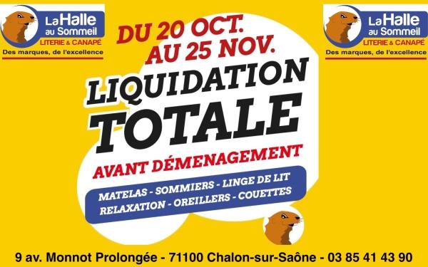 La Halle au Sommeil Chalon/Saône liquide avant de déménager !