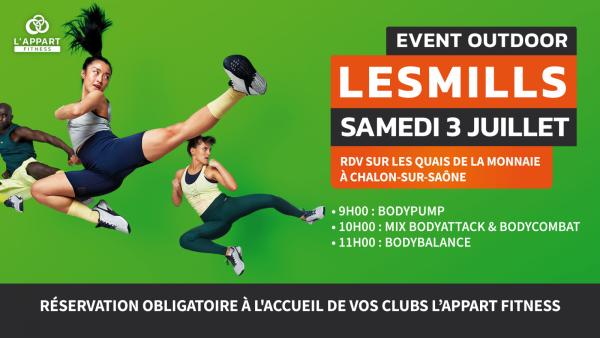 Ce samedi 3 juillet, rdv quai de la Monnaie à Chalon. L'Appart Fitness organise en collaboration avec la Mairie de Chalon un événement sportif : inscrivez-vous !